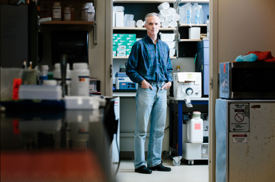 James Collins, the Termeer Professor of Bioengineering at MIT. Photo by M. Scott Brauer.