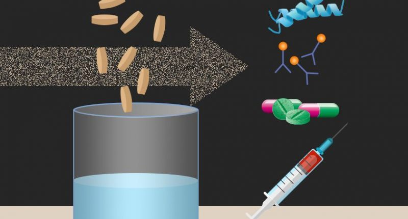 To produce biopharmaceuticals on demand, just add water
