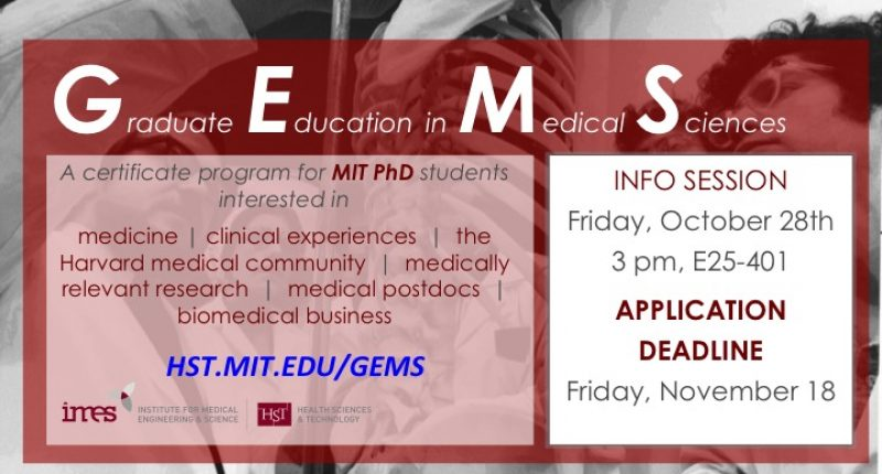 Graduate Education in Medical Sciences (GEMS) Info Session
