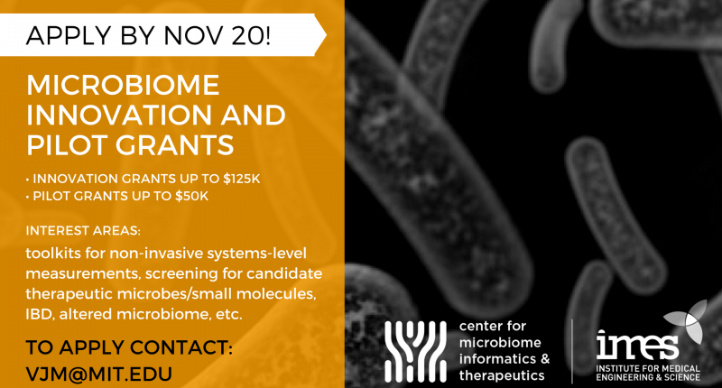 Microbiome Innovation and Pilot Grants