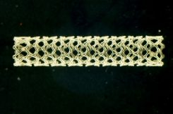 Microscopic image of a polymer stent